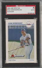 Ivan Rodriguez 1991 Line Drive autographed card SGC Certified