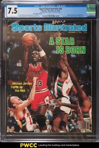 1984 Time Inc. Sports Illustrated #v61 #26 Michael Jordan Cover CGC 7.5