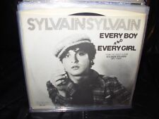 """SYLVAIN every boy and every girl ( rock ) 7""""/45 picture sleeve"""