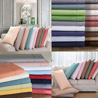 100% Genuine Egyptian Cotton Plain Pillow Cover case 2 piece set