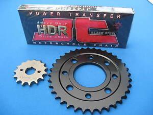 HONDA  CG125   HEAVY DUTY CHAIN AND SPROCKET KIT SET   1999 - 2001