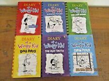 ~DIARY OF A WIMPY KID x 6-JEFF KINNEY-DOG DAYS, LAST STRAW, UGLY TRUTH + 3 - GC~