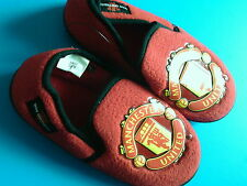NUOVE pantofole per bambini Ufficiale Manchester United Football Club UK C4/5. EU 21/22