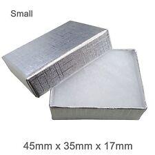 Caja de regalo de cartón de joyas de plata Cojín de algodón fuerte Caja de Joyería-Pequeño