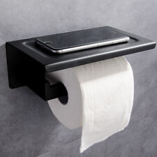 Toilet Wall Mounted Paper Rack Mobile Phone Storage Shelf Tissue Roll Holder