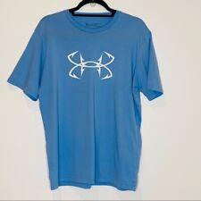 Men's light blue Under Armour t-shirt Size Large EUC Graphic