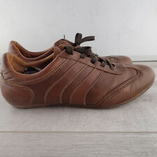 Massimo Dutti Brown leather Sneakers Athletic Shoes EU 41     a6