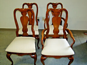 Beautiful cherry upholstered dining room chairs by American Drew Furniture Co.
