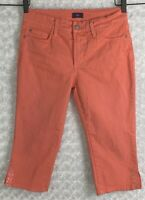 NYDJ Not Your Daughters Jeans Women's Peach Size 8P Capri Cropped 30 x 18 Pants