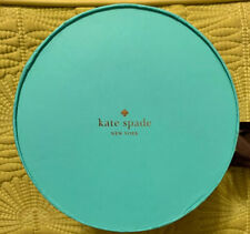 Kate Spade Turquoise Blue & Green Empty Gift Box w/Brown Bow