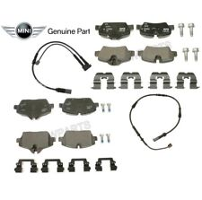 For Mini F56 Cooper Base 2016-2017 Front & Rear Brake Pad Set & Sensors KIT