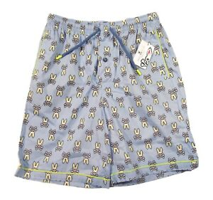 Psycho Bunny Men's Spritz Bunny All Over Cotton Lounge Shorts