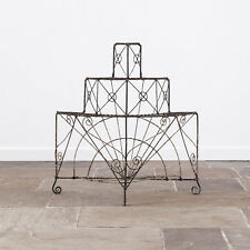 Early 19th Century Painted Wirework Tiered Plant Stand. Regency. Antique.
