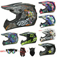 Motorcross Dirt Bike ATV Off Road MTB Motorcycle Helmet Racing Full Face DOT