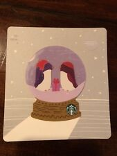 STARBUCKS 2018 CHRISTMAS HOLIDAY DIE CUT SNOW GLOBE BIRDS HATS CARD Lot Of 2
