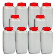 10er Pack 1000 ml  Weithalsflasche  Behälter Kunststoffflasche mit Schraubdeckel