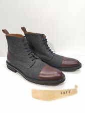 Taft Jack Boot Grey Oxblood Size 11 D Excellent Eur 44 Made in Spain Handcrafted
