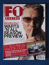 F1 Racing Magazine - March 2004 - Mika Haikkenen Cover - Formula One