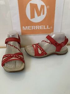 Merrell Violotta Scarlet Sporty Comfy Leather Sandals Size UK 4 EU 37