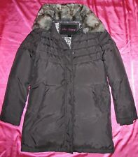 Women's BETSEY JOHNSON Gray Puffer REAL DOWN Warm Winter Coat Jacket XS NEW!!!