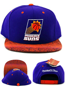 Phoenix Suns New Mitchell & Ness Retro Logo Purple Orange Snapback Era Hat Cap