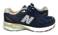 New Balance Mens 990 Running Shoes Blue Black Lace Up Low Top Mesh Sneakers 10 D