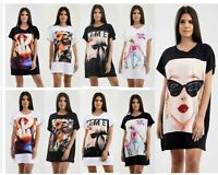 Vogue Bow Mom Life Sunglasses Printed Baggy Oversized Summer T Shirt Top Dress