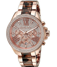 NEW Michael Kors MK6159 Wren Tortoise Rose Gold Crystal Ladies Watch