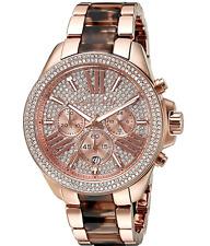 NEW Michael Kors MK6159 Wren Tortoise Rose Gold Crystal Ladies Watch