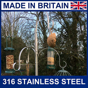 6 Arm Wild Bird Feeding Station in Stainless Steel 316 grade bird feeder station