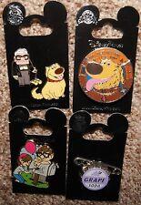 Disney Pixar Up Carl Fredrickson Ellie Dug Dog Grape Badge 5 Pin Lot