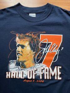 Vintage John Elway Hall of Fame T-Shirt Medium Statistics Champion
