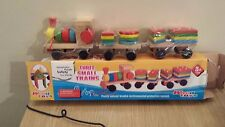 Toddlers Wooden Pull Along Train With Coloured Shaped Blocks Educational Toy
