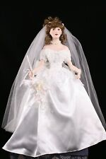 "Patricia Rose 18"" Porcelain & Cloth Bride Doll JUNE 1999 Paradise Galleries"