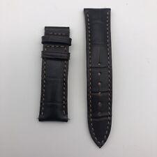 GENUINE STEINHART Brown Leather Croc Grain Watch Strap 20 Short/Small