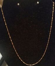 "18k yellow gold polished sparkle link necklace,  18""L,  2.7 grams"