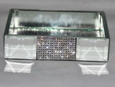 Bella Lux Mirror Rhinestones Rectangular Soap Dish / Trinket Holder NEW