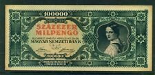 HUNGARY - 1946 100,000 Pengo Circulated Banknote (B)