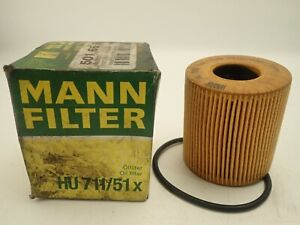 MANN HU711/51X Oil Filter for Citreon, DS, Fiat, Ford etc