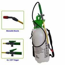 8 Litre Garden Spray Pressure Bottle Manual Weed Pump Chemical Strap Shoulder