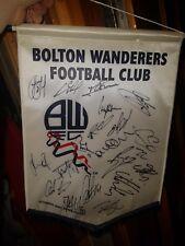 Bolton Wanderers Squad signed pennant season 2008-09