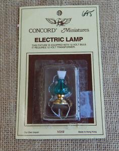 Vintage Dollhouse Miniature Desk Table Lamp Light 1:12 Scale New #67