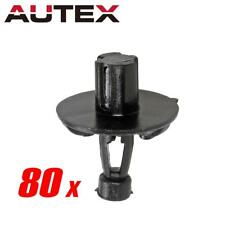 80x Nylon Engine Cover Push-Type Retainer Clips Rivet for Toyota