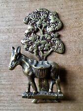 Brass Door Knocker Donkey Mule Tree Hardware Salvage Vintage Small