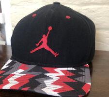 Nike Air Jordan Jumpman Snapback Hat Cap Black Red Gray 718750-013 Used