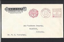 LOUISVILLE, KENTUCKY 1946 METER COVER ADVT. BELKNAP HARDWARE & MFG CO.