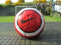 Vintage Nike Total 90 T90 Chrome Manchester United Ball Size 5 Football Rare