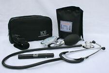 Esfigmomanómetro Negro Presión Arterial Estetoscopio puntero torniquete GP-ICE