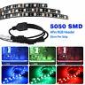 3Pcs RGB Gaming LED Strip Lights Case Lighting w/4pin Hub Adapter Gamer DIY PC