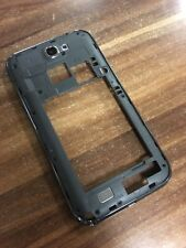 ORIGINALE Samsung Galaxy Note 2 n7100 cornice centrale middle case chassis GRIGIO GREY